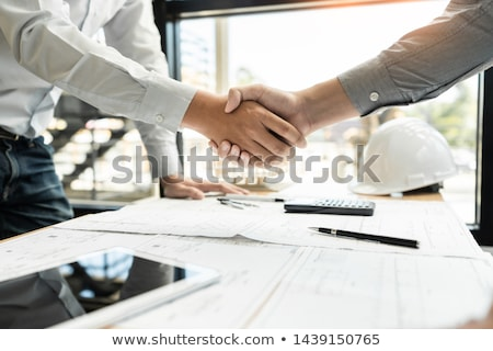 Partnerschaft Vereinbarung Bild zusammen Stock foto © Lightsource