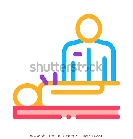 Umani agopuntura medico icona vettore contorno Foto d'archivio © pikepicture