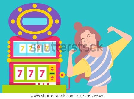 Kazanan kız risk mutlu kız Stok fotoğraf © robuart