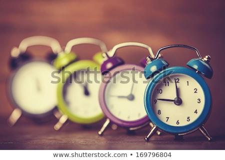 Stock photo: group of alarm clock