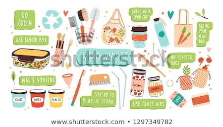 экологический органический пункт дыра лист бумаги Сток-фото © orson