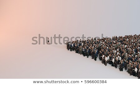 3d single adult business man in the meeting stock photo © dacasdo