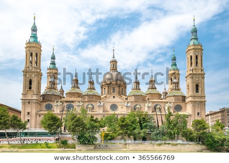 Basilica-Cathedral of Our Lady of the Pillar in Zaragoza Stock photo © aladin66