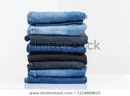 Stack of jeans clothes Stock photo © zakaz