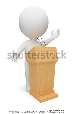 Stock photo: 3d small people   orator