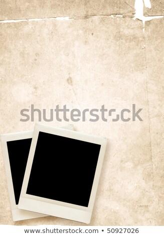 非常に詳細なテクスチャグランジ背景を持つヴィンテージインスタント写真 ストックフォト © ilolab