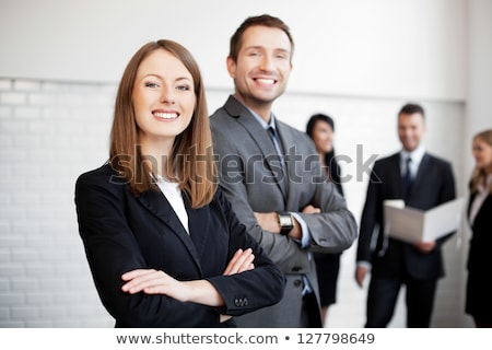 Stock photo: Group of  business men and women