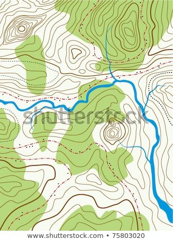 ストックフォト: Vector Abstract Topographical Map With No Names