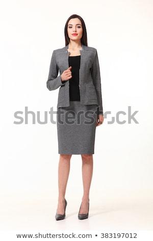 kaukázusi · nő · ázsiai · férfi · öltönyök · éljenez - stock fotó © Qingwa