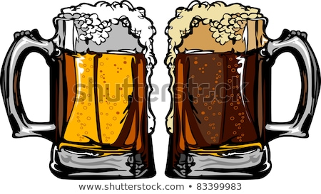 Beer or Root Beer Mugs Vector Images Stock photo © chromaco
