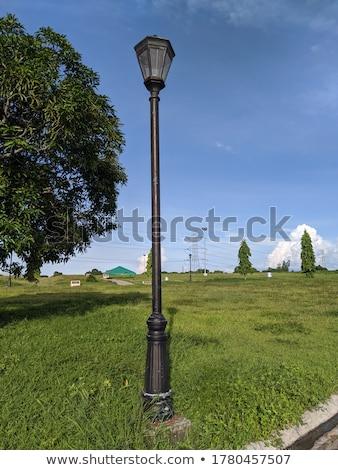 осень лампы пост цветами копия пространства природы Сток-фото © Alvinge