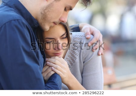 a man comforting his wife Stock photo © photography33