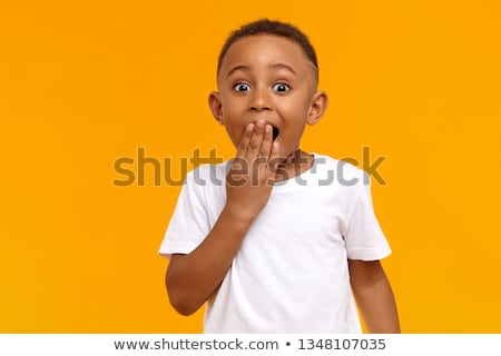 Amazed or surprised child boy Stock photo © ia_64