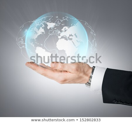 Hands holding a News Sphere Stock photo © kbuntu