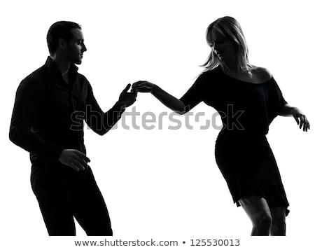 fiatal · pér · salsa · tánc · fehér · szenvedélyes · táncosok - stock fotó © feedough