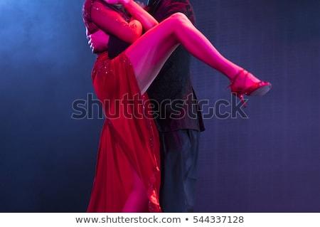 страстный · Сальса · танцы · пару · молодые · белый - Сток-фото © feedough