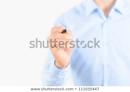 business man draw with marker on empty space stock photo © dotshock