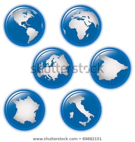 Gyűjtemény Föld földgömbök ikonok Olaszország Spanyolország Stock fotó © alvaroc