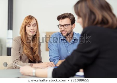 Sério jovem advogado pensando olhando homem Foto stock © erierika