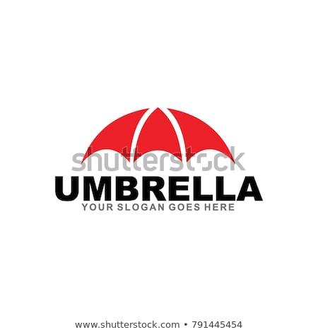 streszczenie · parasol · ikona · komputera · niebieski · obiektu - zdjęcia stock © pathakdesigner