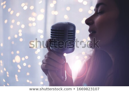 Stock photo: Retro Singer
