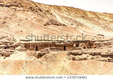 Rock cięcia ściany Afryki religii grobu Zdjęcia stock © prill