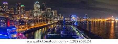 Stockfoto: Seattle · nacht · centrum · haven · koningin