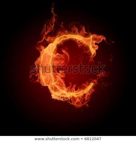 炎のような フォント 手紙c 青 実例 黒 ストックフォト © dvarg