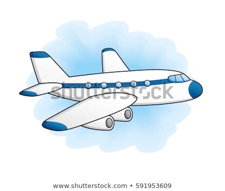 rajz · modern · katonaság · vadászrepülő · repülőgép · vektor - stock fotó © mechanik