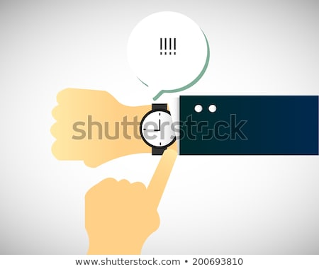 Man panicking looking at his watch Stock photo © photography33