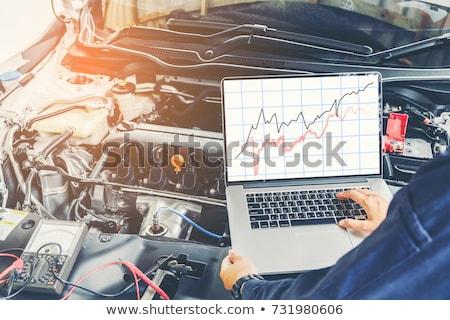 Laptop computador portátil conjunto fones de ouvido negócio livro Foto stock © kitch