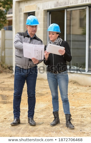 An architect and his electrician. Stock photo © photography33