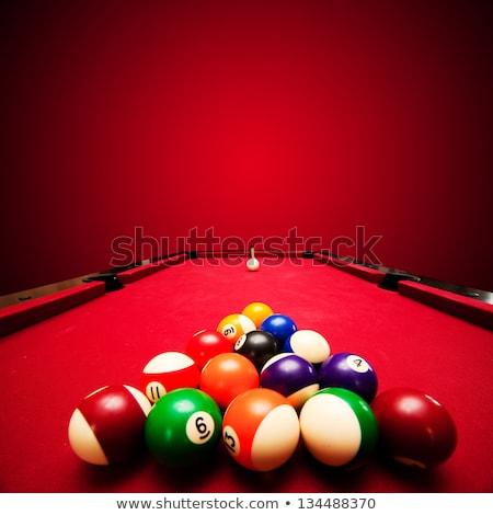 Zwembad spel sport achtergrond tabel groene Stockfoto © BrunoWeltmann