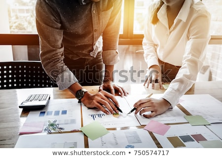 businessman checking graph stock photo © photography33