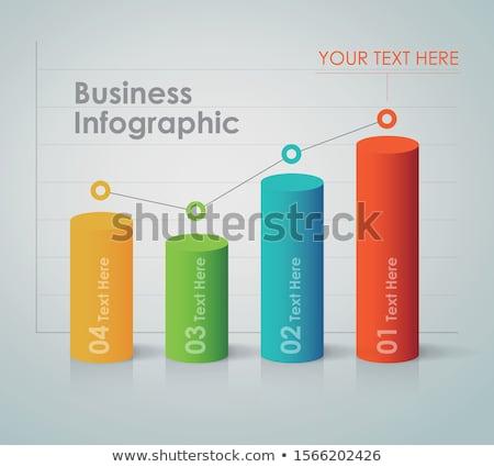 Gráfico de barras ilustración negocios flecha resumen signo Foto stock © vectomart