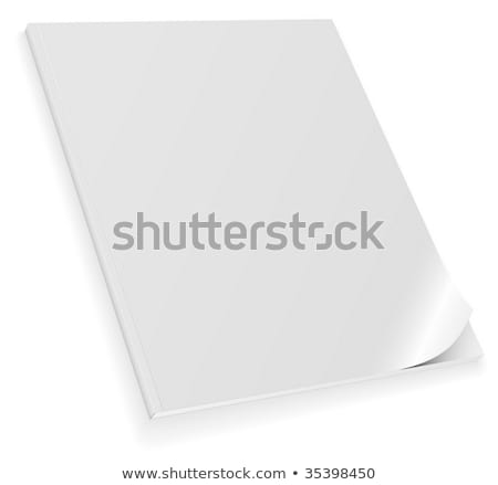 Vector illustration of closed blank magazine with curled cover i Stock photo © tuulijumala
