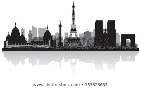 Silhouette Of Paris Сток-фото © YurkaImmortal
