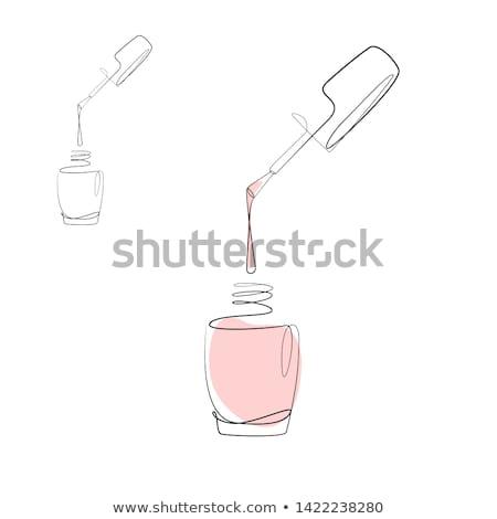 Female hands. Nail polish drawing. Stock photo © pzaxe