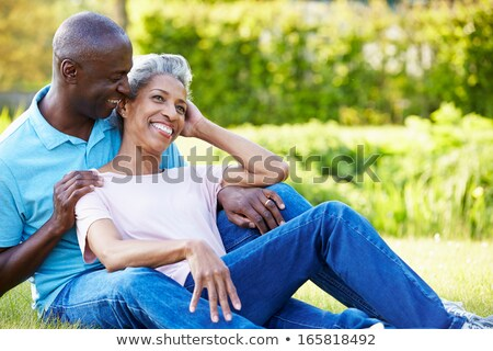 Mature Man on Black - Laughter Stock photo © lisafx