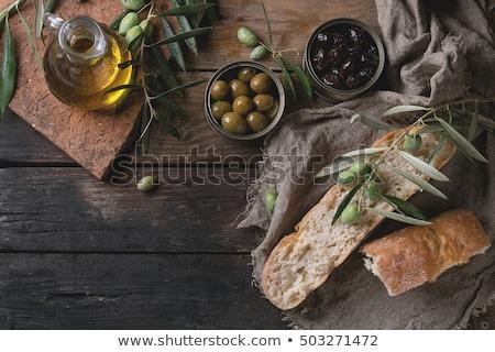 молодые оливкового филиала Средиземное море продовольствие природы Сток-фото © Kuzeytac