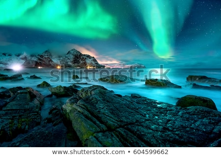 Winter mountains and lighthouse Stock photo © zzve