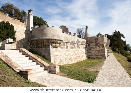 pormenor · forte · paredes · famoso · ponto · de · referência · Belgrado - foto stock © vaximilian
