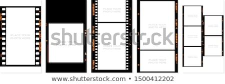 Film rollen tonen countdown tape kunst Stockfoto © idesign