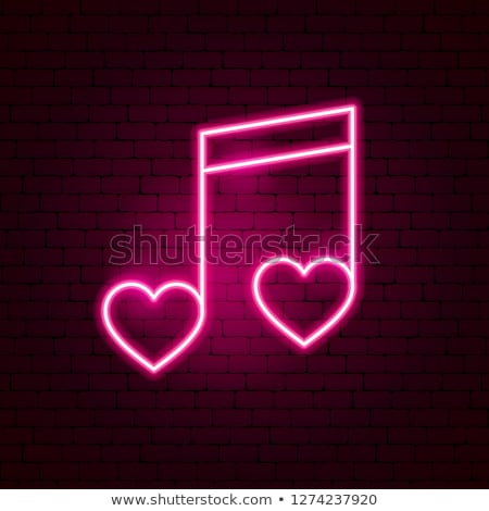 music hearts, vector  Stock photo © beaubelle