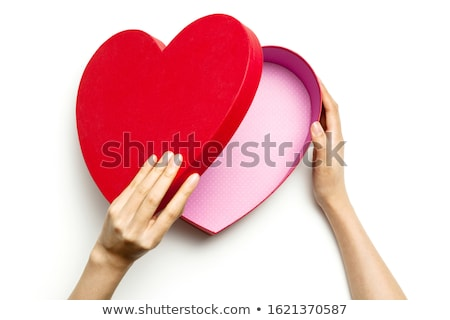 Brilhante coração caixa de presente dom pacote abrir Foto stock © Pixelchaos