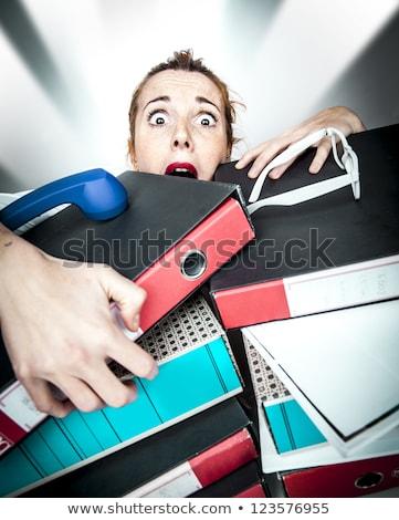 Recepcionista ocupado trabalhar escritório livro reunião Foto stock © photography33