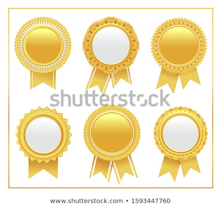 Gold Vergabe Siegel Business Grafik Medaille Stock foto © rtguest