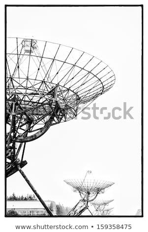 Radiotelescopes in the mist Stock photo © Hofmeester