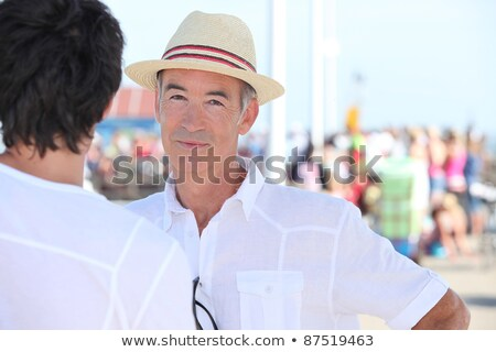 Old man and son stood by port Stock photo © photography33