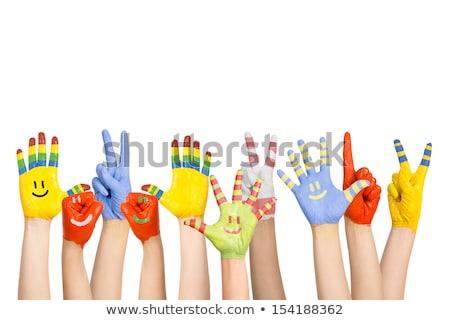 különböző · színek · gonosz · jó · mosoly · ajándék - stock fotó © SVitekD
